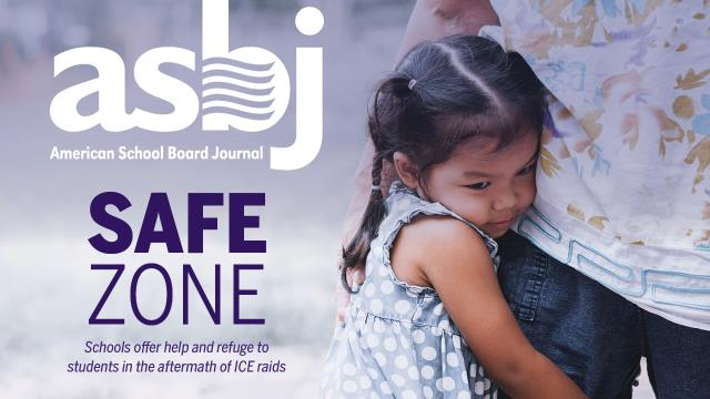 The cover of ASBJ December issue, which pictures a small girl embracing an adult