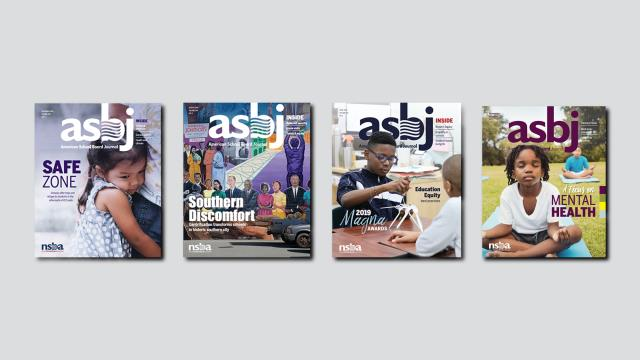 the covers of four past issues of ASBJ
