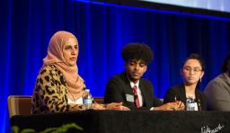 a student panel of speakers at nsba's 2020 equity symposium