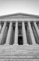 black and white photo of the supreme court